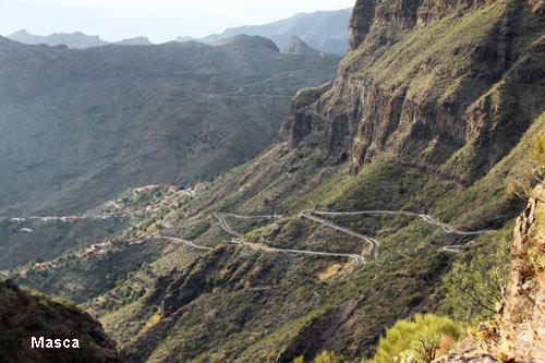 Masca village high in the mountains of Tenerife